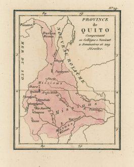 ECUADOR, COLOMBIA, PANAMA and BRAZIL / JESUITS: Province de Quito Contenant 10 Collèges 1 Noviciat 2 Séminaires et 209 Jésuites.