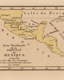 MEXICO and CENTRAL AMERICA / JESUITS: Province Méridionale de Province du Mexique Contenant 21 Col. 1 Mai. Pro. 6 Séminaires 1 Noviciat 2 Résid. Plusiers Missions. 572 Jésuites.