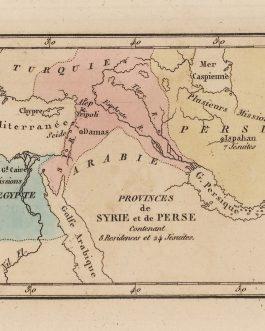 NEAR EAST / JESUITS: Provinces de Syrie et de Perse Contenant 8 Résidents et 24 Jésuites.