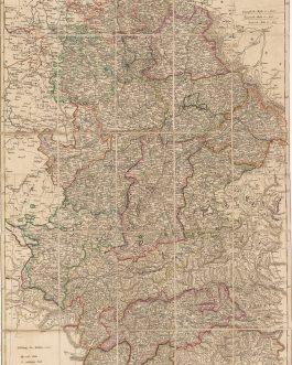 GREATER BAVARIA: Die Baierische Monarchie, entworfen in zwey Blättern von Conrad Mannert.