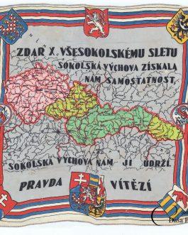 CZECH REPUBLIC – SOKOL: Zdar X. všesokolskému sletu sokolska výchova získala nam samostatnost.