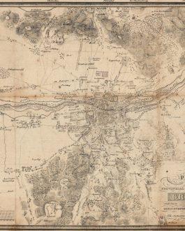 GRAZ: Plan der kaiserlich königliechen Provinzial-Hauptstadt Gratz samt ihren Umgebungen in Herzogthume Steyermark.