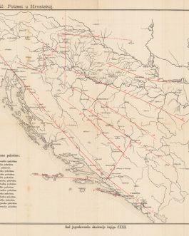CROATIA / BOSNIA EARTHQUAKE MAP: M. Kišpatić: Potresi u Hrvatskoj. Tabla II.