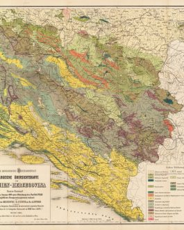 GEOLOGICAL MAP – BOSNIA & HERCEGOVINA / DALMATIA: Geologische Ubersichtskarte von Bosnien-Hercegovina: Erster Entwurf / K.K. Geologische Reichsanstalt; nach den Sommer 1879 unter Mitwirkung des Prof. Dr. G. Pilar ausgeführten Recognoscirungsreisen verfass