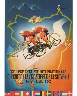 Course cycliste internationale circuit de la Croatie et de la Slovenie 24. VI. – 1. VII. 1950.