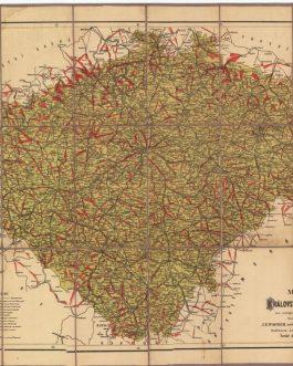 BICYCLE MAP – CZECH REPUBLIC: Mapa Království českého pro cestující, turisty, cyklisty a. t. d.