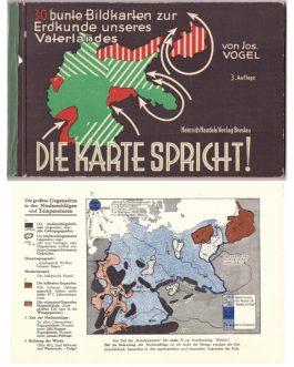 Die Karte Spricht! 30 bunte Bildkarten zur Erdkunde unseres Vaterlandes. [The Map Talks! 30 colourful maps for Geography of Our Fatherland].