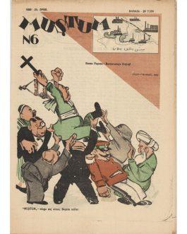 UZBEK POLITICAL-SATIRICAL MAGAZINE: Muştum [Myştum, Muštum / The Fist].