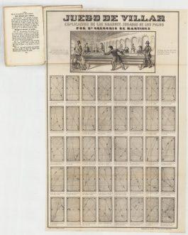 BILLIARDS: Arte de Aprender y Jugar el Noble Juego del Villar, con las reglas y leyes en toda su estencion.