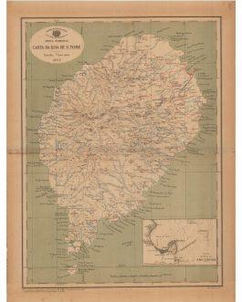 AFRICA – SÃO TOMÉ: África Ocidental – Carta da Ilha de S. Tomé. Escala 1/100000, 1922.