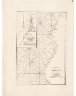 MADAGASCAR – WEST COAST: A Chart of the Western Coast of Madagascar from St Augustin's Bay to Cape St. Andrew (from Mr. D'Apres de Mannevillette).