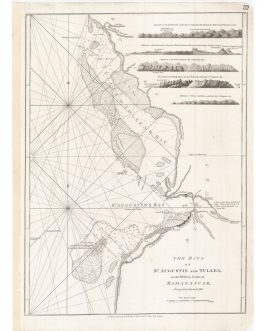 MADAGASCAR – Anantson̈o (St. Augustin's Bay) & Toliara (Tullea): The Bays of St. Augustin and Tullea, on the Western Coasts of Madagascar, Surveyed in 1755 and 1768.