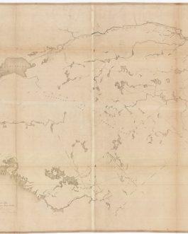 CANADA – MUSKOKA / GEORGIAN BAY / NIPISSING / ALGONQUIN / UPPER OTTAWA VALLEY (Ontario): Map of the Ottawa and Huron Territory.