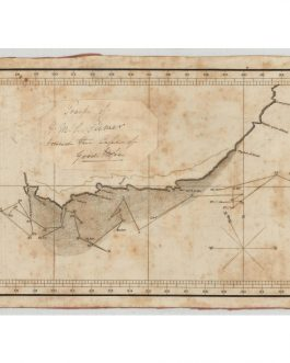 "SOUTH AFRICA / AUSTRALIANA:  ""Track of H.M.S. Tamer round the Cape of Good Hope"" [manuscript title, pasted over original printed title: Track of the Ship Hannah John Lamb R. N. Commander Round the Cape of Good Hope in June & July 1822.]"