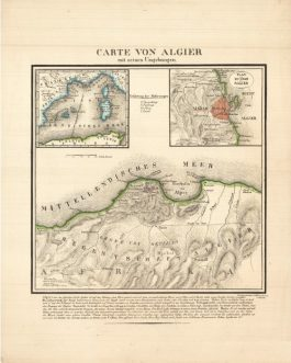 ALGIERS, Algeria: Carte von Algier mit seinen Umgebungen.
