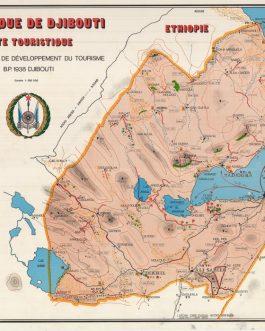 DJIBOUTI: Republioque de Djibouti. Carte Turistioque.