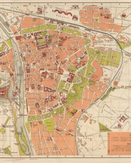 WÜRZBURG: Neuester Verkehrs-Plan der Kreishaupt- & Universitätsstadt Würzburg mit Verzeichnis der Sehenswürdigkeiten [The Newest Transportation Map of the County Capital and University City Würzburg with a List of Tourist Attractions].