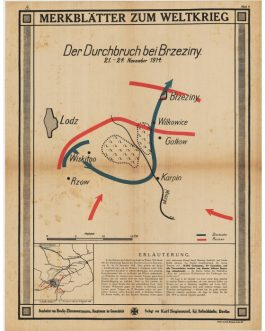 WWI – POLAND – Brzeziny, Łódź: Merkblätter zum Weltkrieg – Der Durchbruch bei Brzeziny. 21. – 24. November 1914 [Leaflets on the World War – Battle at Brzeziny].