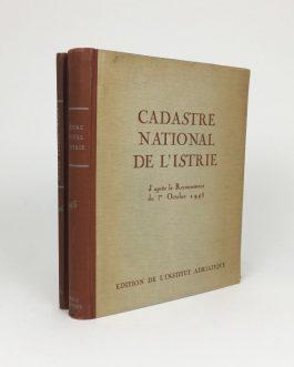 ISTRIA, Croatia: Cadastre national de l'Istrie, d'après le recensement du 1er octobre 1945. Supplément: Index patronymique.