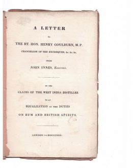 WEST INDIES / SLAVERY: A Letter to the Governors, Legislatures, and Proprietors of Plantations, in the British West-India Islands. By the Right Reverend Beilby Porteus, D.D. Bishop of London.