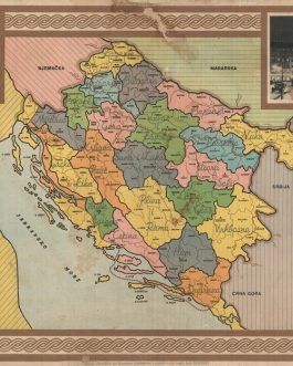 "CROATIA, INDEPENDENT STATE: ""Bayer""ova karta nezavisne Države Hrvatske [Bayer Map of the Independent State of Croatia]."