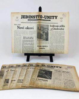 YUGOSLAVIAN ÉMIGRÉ NEWSPAPER: JEDINSTVO : JUGOSLAVENSKO-KANADSKI TJEDNIK = UNITY : YUGOSLAV-CANADIAN WEEKLY.