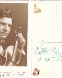 AUTOGRAPH: Zlatko Baloković (1895 – 1965).
