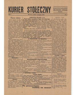WARSAW UPRISING NEWSPAPER: Kurier Stołeczny [Warsaw courier], Nr. 4.