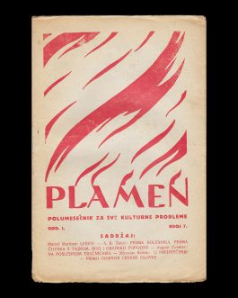 CROATIAN AVANT-GARDE AND EARLY COMMUNISM: Plamen. Polumjesečnik za sve kulturne probleme [Flame. Bimonthly for all the Cultural Problems].