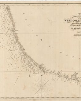 SRI LANKA – GALLE and SOUTHWEST COAST: Trigonometrical Survey of the West Coast of Ceylon, Executed by order of the Madras Government, By Lieuts. F.T. Powell & R. Ethersey, I.N. Sheet IV. From Point De Galle to Dondra Head by T.H. Twynam, Master Assistant