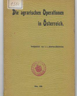 AUSTRIA: Die Agrarischen Operationen in Österreich [The Agrarian Operations in Austria].