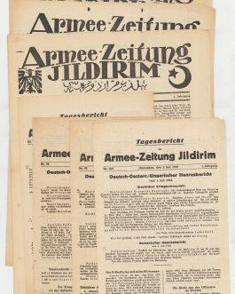 WWI, SYRIA: ARMEE-ZEITUNG JILDIRIM. ييلديرم اردو غزهتهسى, together with: Tagesbericht der Armee-Zeitung Jildirim.