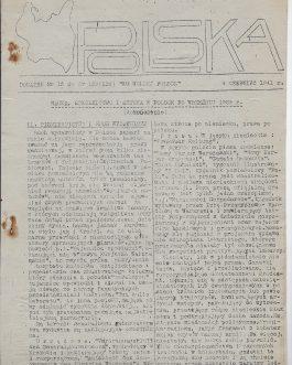 POLISH RIFLE DIVISION – MIDDLE EAST – CAIRO IMPRINT – WWII – SLAVICA: Ku wolnej Polsce [Towards Free Poland]. No. 95. Monday, December 16th, 1940