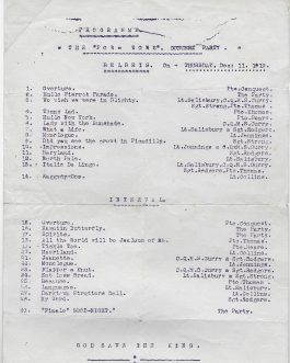 THEATRE – WWI POW CAMP BILBEIS, EGYPT: 4 Programs for the Theatre Performances of the British at a POW Camp in Bilbeis, Egypt 1919.