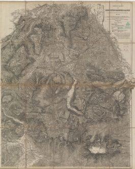 BERCHTESGADENER LAND: Special Karte der Berchtesgadener Alpen.