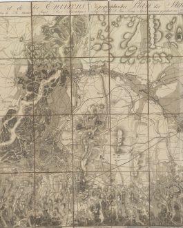 VIENNA – CASE MAP: Plan de Vienne et de ses Environs. Topographischer Plan der Stadt und Gegenden um Wien