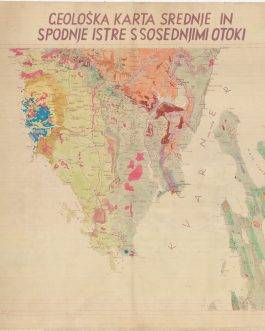 GEOLOGICAL MAP / CROATIA / YUGOSLAVIA: Geološka karta srednje in spodnje Istre s sosednjimi otoki [Geological Map of Middle and Lower Istria with the Neighbouring Islands].
