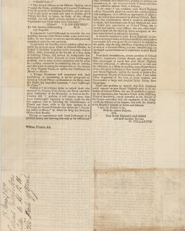 WEST INDIES – TRINIDAD / JUDICIAL MURDER & SORCERY / RACE RELATIONS / CELEBRITY TRIALS / PROPAGANDA WARS / SCOTTISH PROVINCIAL IMPRINT: [A Letter:] To Field Marshal, H.R.H. The Duke of York, Air, Scotland, 15th June, 1807.