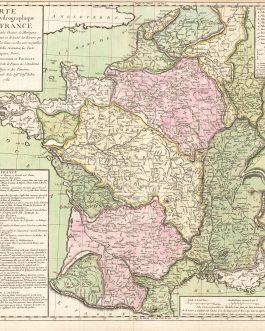 DATA VISUALISATION: Carte Physique et Hydrographique de la France