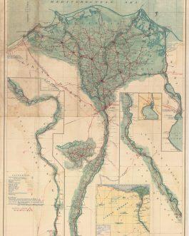 EGYPT / ART DECO DESIGN / ALEXANDRIA IMPRINT: Road Map of Eg...