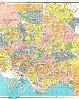 CASABLANCA, MOROCCO: Guide de Casablanca avec Plan en Couleurs et Nomenclature des Rues, Boulevards, Places, Avenues, Passages, Etc… 14e Édition.