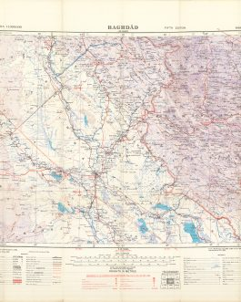 WW2 IRAQ / BAGHDAD / CENTRAL IRAQ / AERONAUTICAL CHART:  Baghdād. / Fifth Edition.