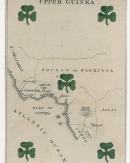 Sahel – Africa – CARTOGRAPHIC PLAYING CARD: 'Upper Guinea' from The Court Game of Geography.