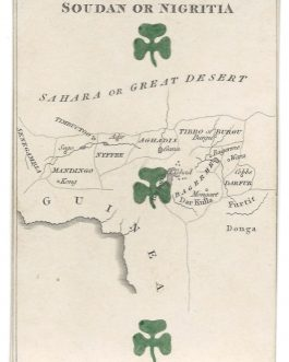 Niger, Chad, Mali, Burkina Faso – Africa – CARTOGRAPHIC PLAYING CARD: 'Soudan or Nigritia' from The Court Game of Geography.