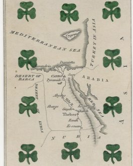 Egypt – Africa – CARTOGRAPHIC PLAYING CARD: 'Egypt' from The Court Game of Geography.