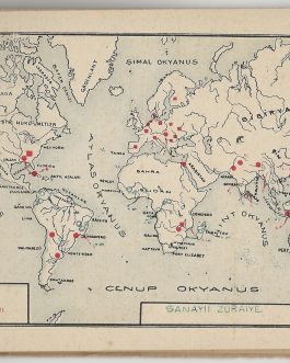 THEMATIC CARTOGRAPHY / EDUCATION HISTORY / RARE TURKISH PROVINCIAL PRINTING: Cihan İktisat Atlası [Universal Economic Atlas].