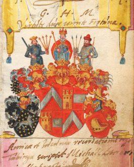 HERBERSTEIN: Coat of Arms and Autograph of Michael von Herberstein