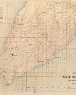 WWI / GALLIPOLI CAMPAIGN / CAPE HELLES SECTOR / ORIGINAL MANUSCRIPT / FIELD ANNOTATIONS / LAWRENCE OF ARABIA: Map of Southern Gallipoli from a Captured Turkish Map.