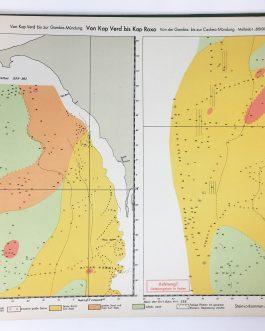 WORLD WAR II U-BOAT ATLAS MOROCCO / WEST AFRICA INNOVATIVE SPACE VISUALIZATION: Atlas der Bodenbeschaffenheit des Meeres. 9. Lieferung. Westküste Afrikas zwischen 7° und 34° Nord-Breite. Bearbeitet von der Deutschen Seewarte.