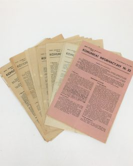 WARSAW UPRISING – UNDERGROUND PRINTING – WWII: Komunikat Informacyjny, 20 Issues: Nos. 19, 22, 23, 35, 28, 29, 30, 31, 32, 33, 35, 36, 37, 38, 40, 41, 43, 44, 45 and 46.